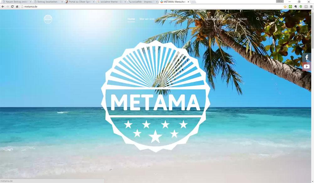 Screenshot von metama.de: Auf der Website läuft dort ein Video | Bild: Redaktion